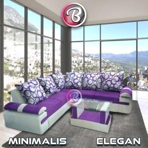 sofa L sudut minimalis Ungu Murah berbagai motif