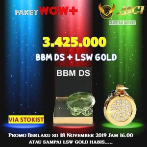 Promo MCI Paket Wow+ BBM DS + LSW Gold