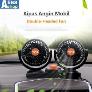 Kipas Angin Mobil YZH-T303 Double-Headed Fan Aksesoris Mobil Interior