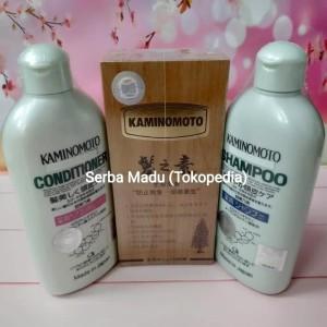 Paket Kaminomoto Komplit I: Hair Tonic Gold + Shampoo + Conditioner