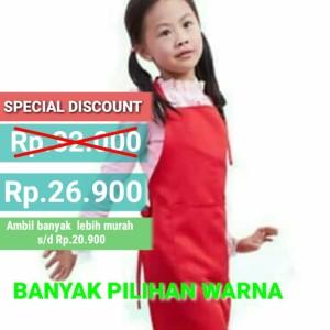 Apron / Celemek Anak Anti Air Bahan Import Premium