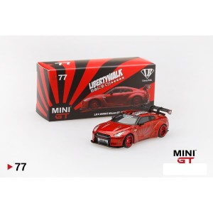 MiniGT LB works Nissan GT-R R35 Type 1 Rear Wing ver 1+2 Candy Red