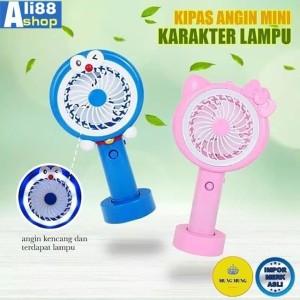 KIPas Angin Tangan Stand Portable Karakter(Standing Mini Fan)