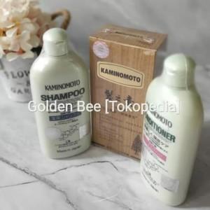Paket KaminomotoGold Lengkap:HairGrowthAccelerator+Shampoo+Conditioner