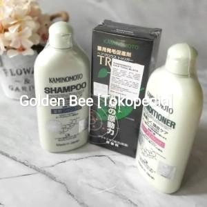 Paket Super Kaminomoto: Hair Tonic Black/Trigger+Shampoo+Conditioner