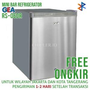 Kulkas Mini Portable GEA RS-06DR Silver Free Ongkir