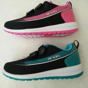 Sepatu Anak Perempuan Ando Plano Velcro Hitam Fuchsia Tokopedia