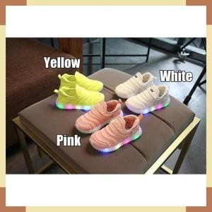Led V Dynamo Slip On Shoes Sepatu Sekolah Olahraga Sneakers Kets Anak Lamp Tokopedia