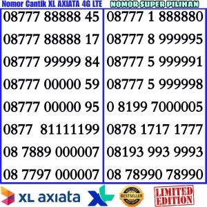 Jual Nomor Cantik Perdana XL AXIATA Super ABAB-CDCD XX