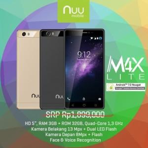 Smartphone Nuu M4x Lite 4g Lte Ram 3gb Rom 32gb Grs Resmi 1 Tahun Tokopedia