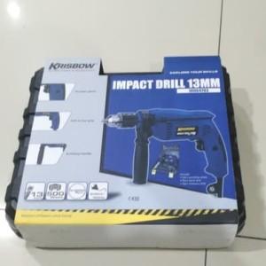 Bor Listrik Krisbow Set Tinggal pakai / Impact Drill 13mm (21pc)