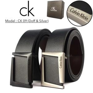 Jual GESPER IKAT PINGGANG KULIT PRIA IMPORT KANTOR CASUAL | CK09 BLACK