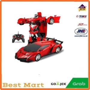 RC Mobil Berubah Robot Remote Control Transform Car Remot Kontrol