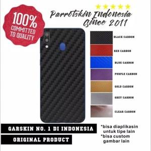 PROMO Garskin HP CARBON hitam merah biru putih ungu abu