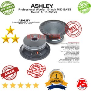 Professional Ashley Speaker Woofer Al10 750yk 10 Inch Tokopedia