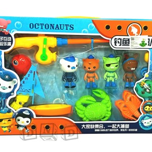 Mainan Anak - Fishing Game Octonauts Pancingan 4 Ikan Figure