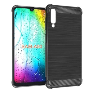 Soft case Samsung A50 Air Bag Black Carbon Original KoRi