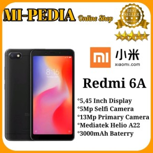 Xiaomi Redmi 6a Ram 2gb 16gb Black Garansi Distributor Tokopedia