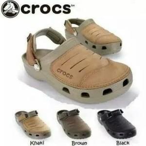 Sandal Crocs Yukon Leather pria/ssandal Crocs yukon leather /Yukon