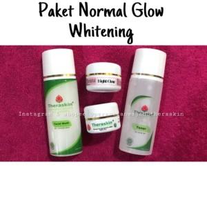Glow Theraskin Glowing Isi 4 Whitening Cream / Krim Pemutih Wajah Ori