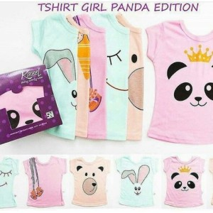 Kazel Tshirt Panda Edition Isi 6pcs