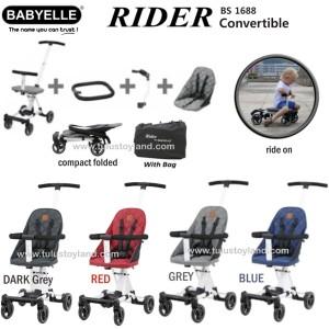 Babyelle Rider Convertible Baby Elle Stroller board cabin size