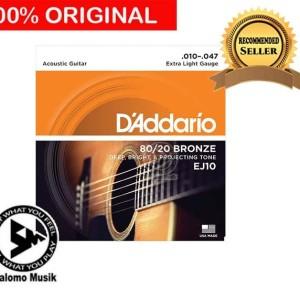 Senar Gitar Daddario D addario D'Addario Akustik Acoustic EJ10 Bronze