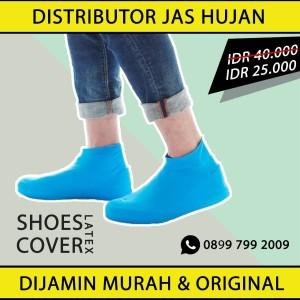 Cover sepatu karet latex 100% waterproof