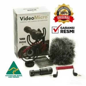 RODE VIDEO MICRO MICROPHONE On CAMERA