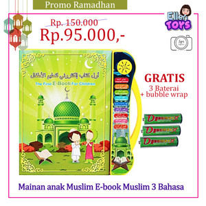 Mainan anak Muslim E-book Muslim 3 Bahasa / Mainan Edukasi / Playpad