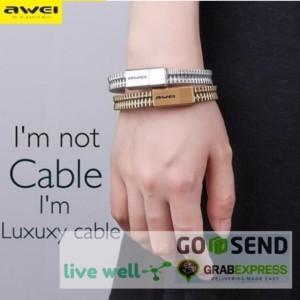 Kabel Charger Micro USB Bracelet Design Gelang