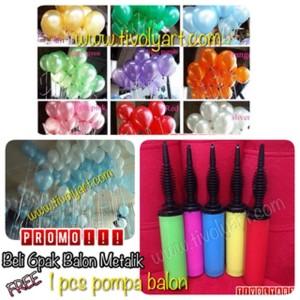 Promo Balon Metalik Free Pompa Balon Tangan Harga Promo Tokopedia