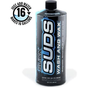 SLICK SUDS Wash and Wax Concentrate 32 Oz 946ml Original USA