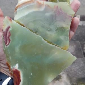 Bahan Rough Natural Green Melon Agate Chalcedony Bahan Mantap Harga Termurah Tokopedia