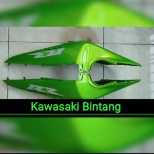 [Ready] Cover Body Belakang Ninja RR New Strip Hijau Metalic Original
