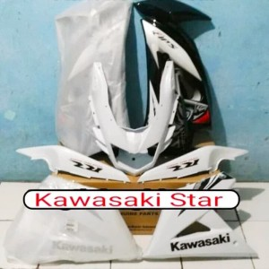 Full fairing + cover body belakang new ninja RR SE putih batik 2013