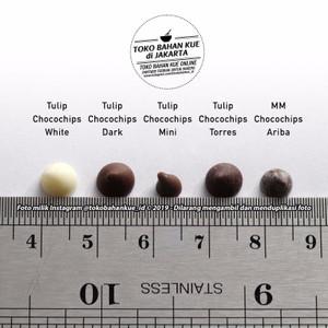 Coklat Chips Tulip Choco Cokelat Chip mini premium (model drop) 100gr