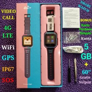WIFI 4G LTE VIDEO CALL SMARTWATCH - GPS - IP67 - JAM TANGAN WATCHPHONE