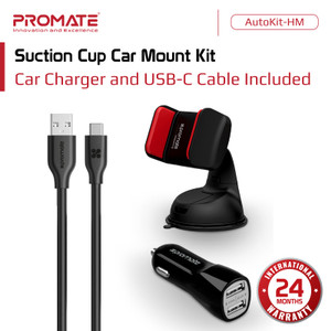 Promate Car Charger Mount - AutoKit-HM Phone Holder Dashboard Mobil