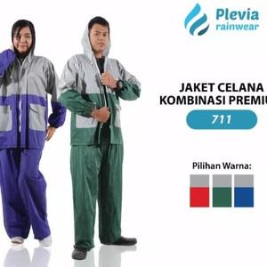 Jas Hujan Jaket Celana Kombinasi 711 Setelan Jas Hujan Murah PLEVIA