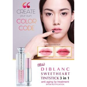 Diblanc Tintstick 3 in 1 (Liptint - Lipbalm - Lipstick) / lipstik