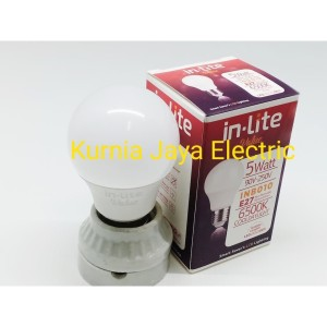 Lampu Led Bulb 5W Putih Cool Daylight In-Lite E27 220V
