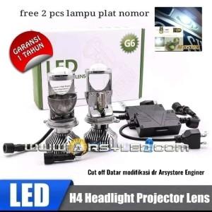 Lampu Utama LED H4 Xpander Avanza Xenia Brio Mini Projie Cutoff 5500K