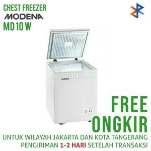 Chest Freezer Modena MD 10 W (100 Liter) Free Ongkir