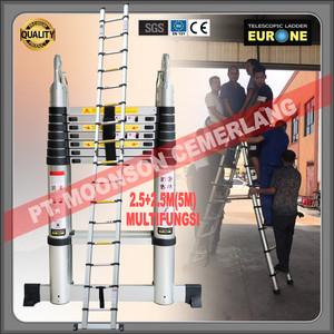 Tangga Lipat Teleskopik 2.5+2.5M(5M), Multifungsi- EURONE