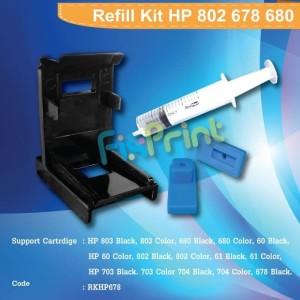 Promo Tinta Hp 680 678 803 802 704 703 Harga 4warna Lengkap Dengan Suntikan Tokopedia