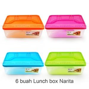 GROSIR Lunch Box 4 Sekat - Kotak Makan - Souvenir ulang tahun - Narita