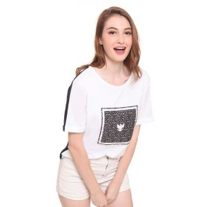 DAMN! I LOVE INDONESIA KAOS WANITA GARUDA ALPHABETICAL WHITE