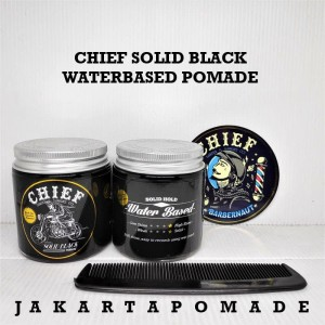 Chief Pomade Black Waterbased 4.2oz Free sisir