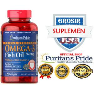 OMEGA 3 OBAT JANTUNG STROKE KOLESTEROL MIGRAIN 1360MG l120 IMPOR FISH